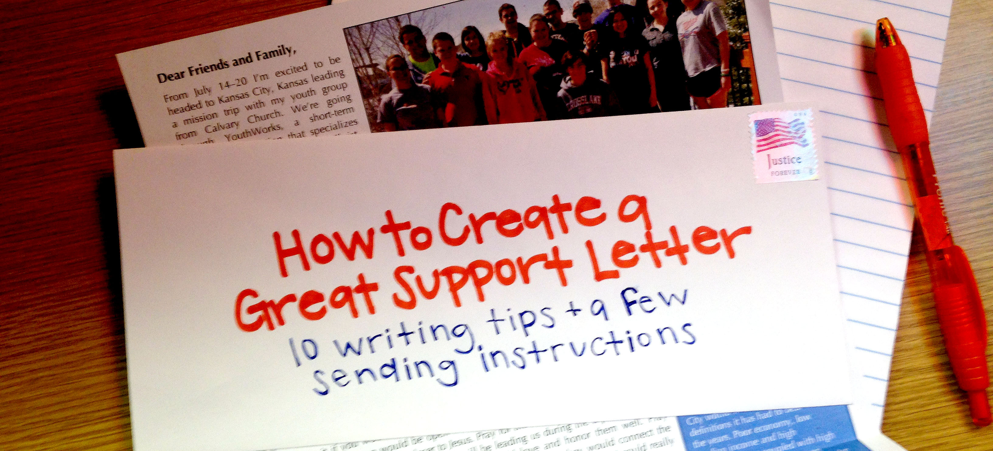 How To Create A Great Support Letter Youthworks